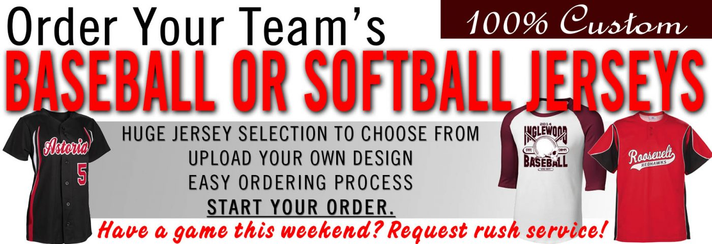 Branded offers custom Baseball & Softball jerseys