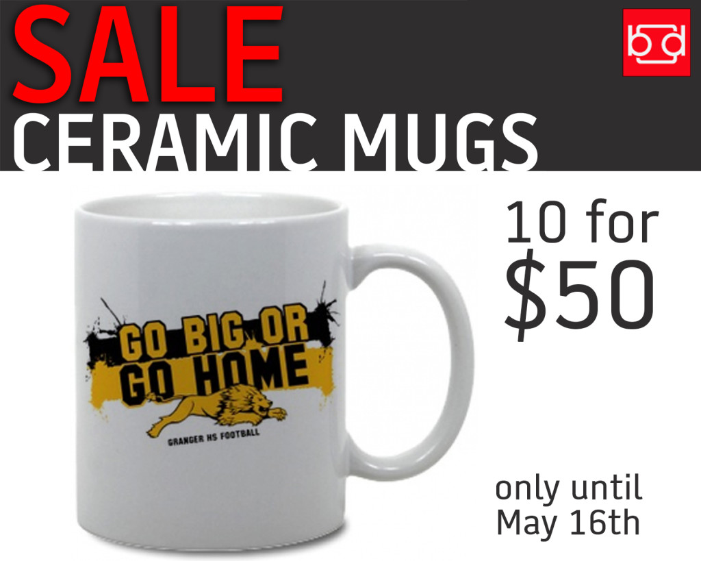Ceramic Mugs For Sale Part - 42: Branded Screen Printing Now Has Custom, Coffee Mugs Now On Sale, Until  March 16th! These Custom Printed, 11oz Coffee Mugs Are Perfect For Your  School ...